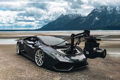 Crazy Camera Set Up On A Lamborghini Huracan