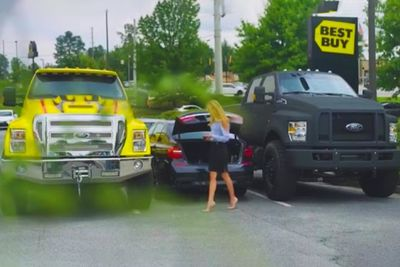 Two Truck Owners Try Prank Lady By Blocking Her Car, But Who's Laughing Now!