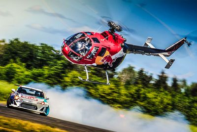 RedBull Helicopter Chases Drift Car