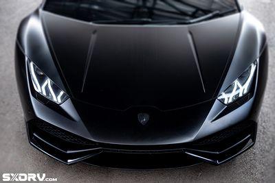 Reconstructed Satin Black Lamborghini Huracan
