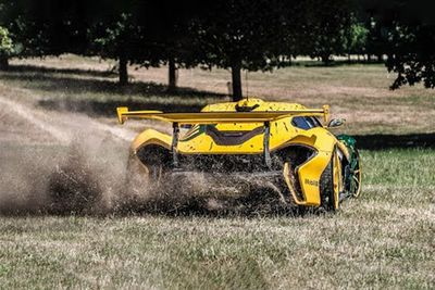 McLaren P1 GTR Off-Road Donuts, Drifting & McDonald's Drive Thru
