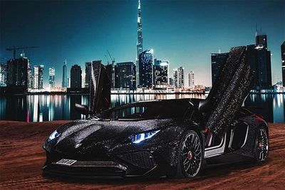 Instagram Star Covers Her Lamborghini Aventador In Swarovski Crystals