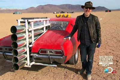 Can The Mythbusters Get A Rocket-Powered Car To Fly A Mile?