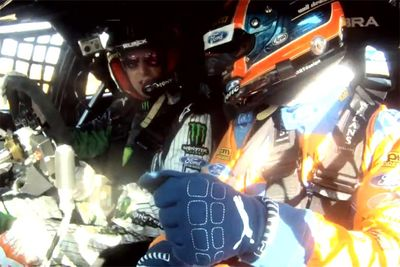 Ken Block Drives Mark Winterbottom And Will Davison's Australian V8 Supercar