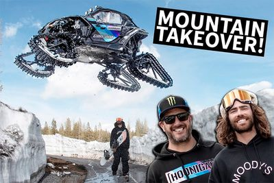 Shredding A Ski Park With Ken Block And A Can-Am On Tracks