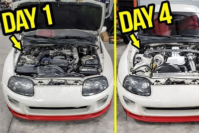 Rebuilding And Modifying A Stock Supra In Four Days