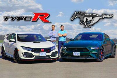 Culture Clash: Honda Civic Type R VS Ford Mustang Bullitt