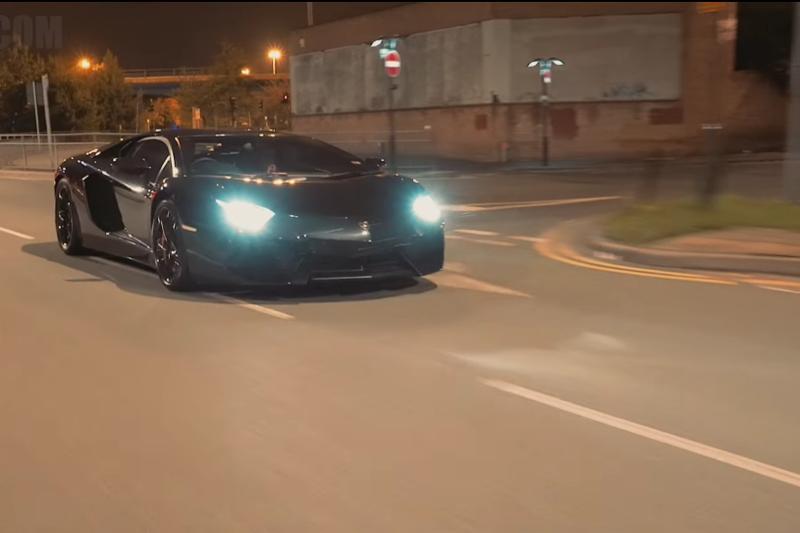 Video Badass Lamborghini Aventador Terrorizing The Streets At Night