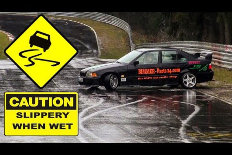 Video: How Not To Drive At The N`rburgring When It Rains! 1