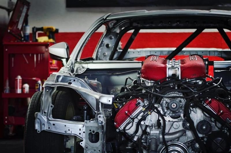 Video: Crazy Drifter Ryan Tuerck Has Fitted A Ferrari 458 Engine Into A Toyota Gt86! 1