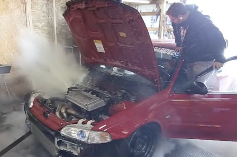 Video: Get Ready To Get Steamy...while This Honda Civic Gets Ready To Explode! 1