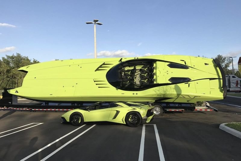 Buy A Lamborghini Aventador Sv Roadster And Get A Matching Speedboat