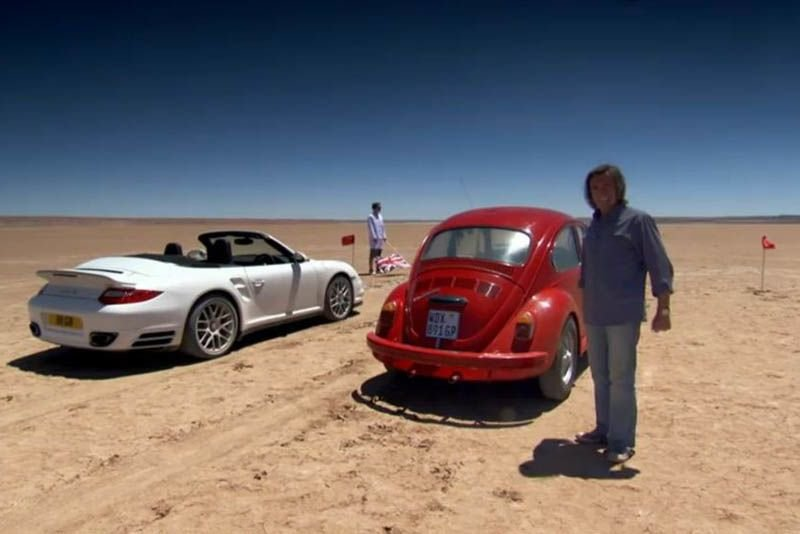 Video: Vw Beetle Beats A Porsche Turbo In Drag Race 1
