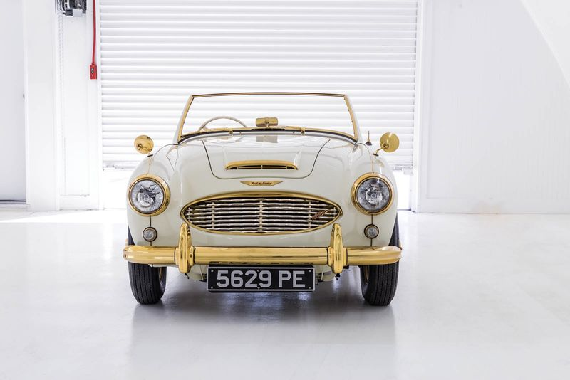 Check Out This Once-off, Factory Spec Golden Austin Healey 1