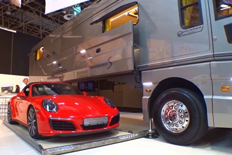 Video: This $1.7 Million Motorhome Includes A Motorised Garage 1