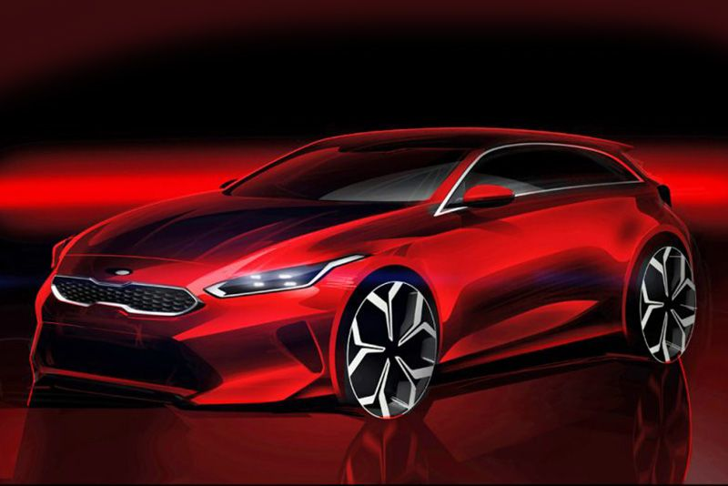 Kia Releases A Sketch Of Their All-new 2018 Ceed 1