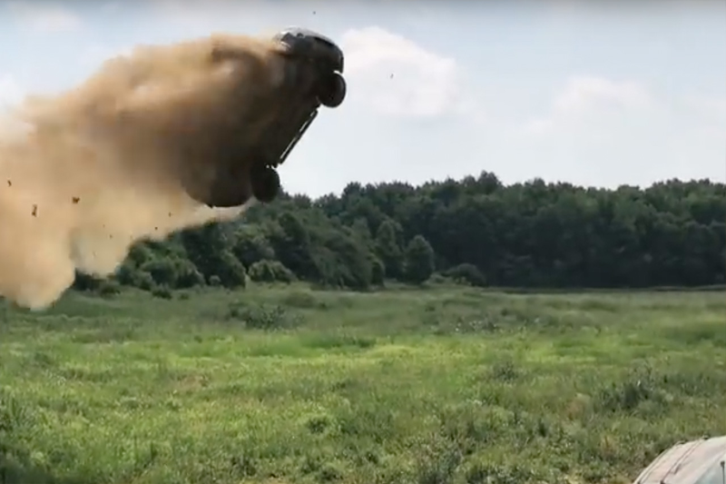 Crazy Dude Makes Ford Escape Catch Major Air! 1