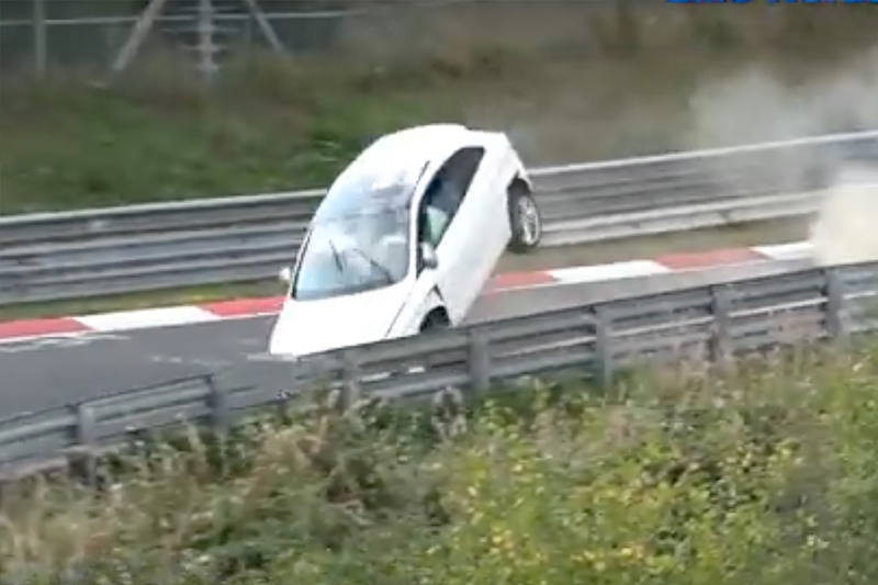Possible ABS Failure Leads To Flying Seat Ibiza At The Nordschleife, Nurburgring 1