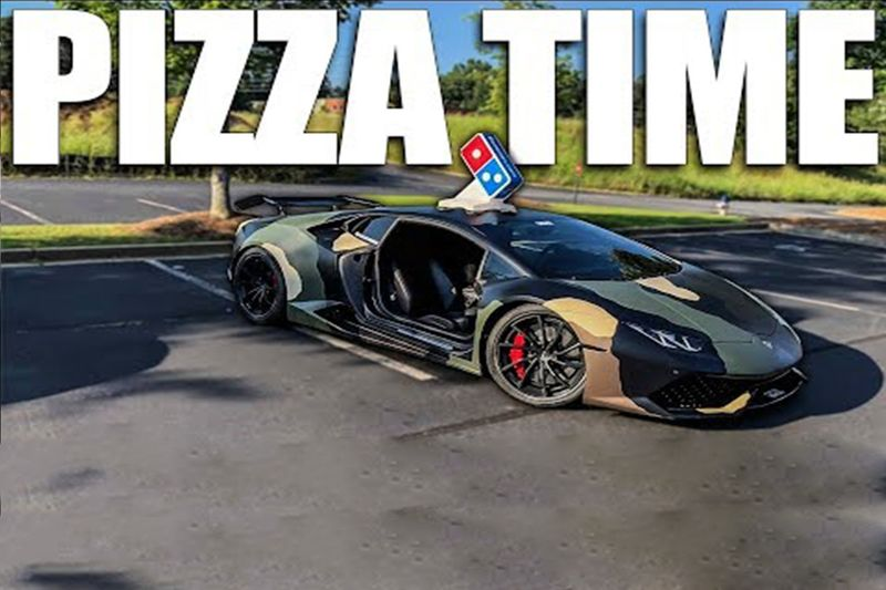 Pizza Delivery In A Lambo Is Harder Than You Think 1