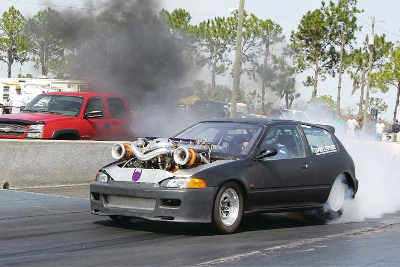 6.0L Twin Turbo In A Honda Civic? Check This Out! 1
