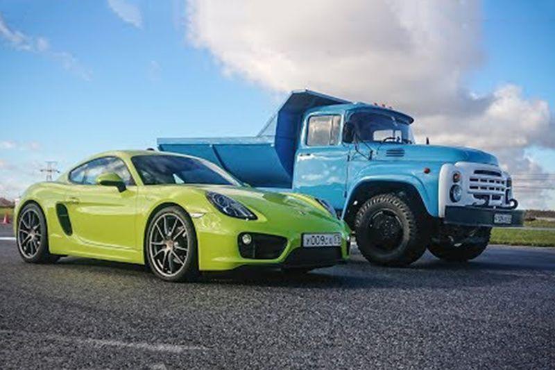 Watch An Old Truck Out-Drag A Porsche 1