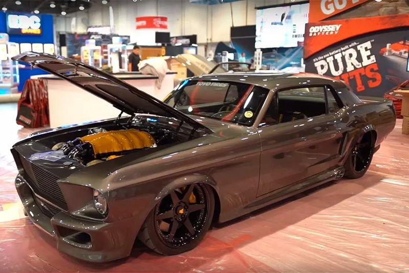 Meet The 58 Corruptt Mustang With A Ferrari Engine Beating Under The Hood 1