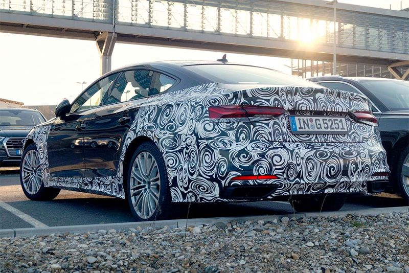 The Audi A5 Facelift Has Been Spotted Testing 1