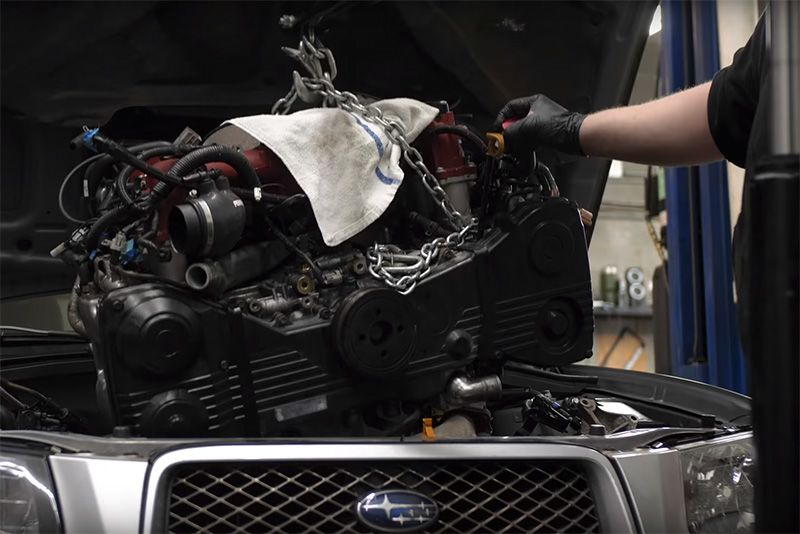 Installing A Forged EJ257 Into A Subaru Forester 1