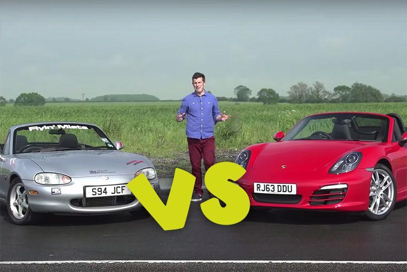 Supercharged Mazda MX-5 vs 2014 Porsche Boxster 1
