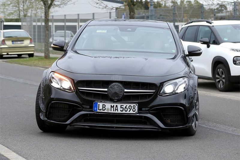 The 2022 Mercedes-AMG SL Spotted Wearing An E-Class Body As Camo 1