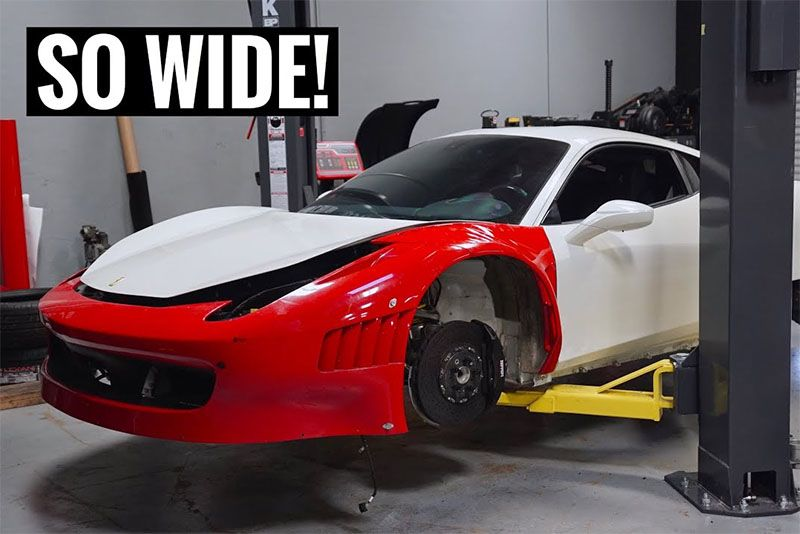 Installing A Factory Ferrari GT3 Widebody Kit On A 458